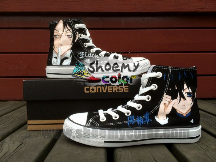 fetching how to design converse shoes at home. Black Butler Hand Painted High Top Cartoon Converse Canvas  Sneaker for Women Men 78 best images on Pinterest sneakers