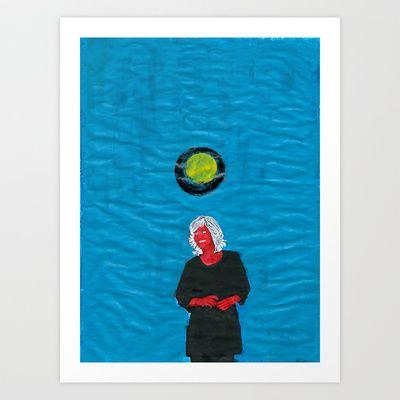 Grip kontanter med begge hender (II) Art Print by Plasmodi - $21.00