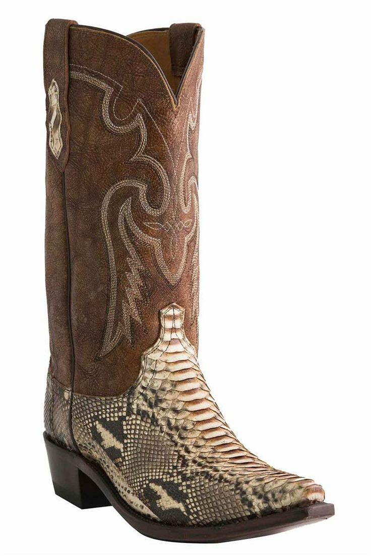 On sale @ HeadWest: Lucchese Men's Python Snakeskin Cowboy Boots
