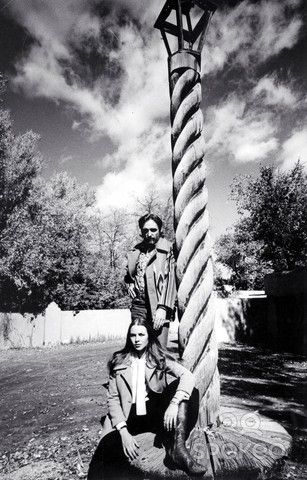Dennis Hopper & Michelle Phillips in Taos, New Mexico, 1970