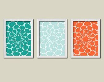 Gray Teal And Orange Bed Set Google Search