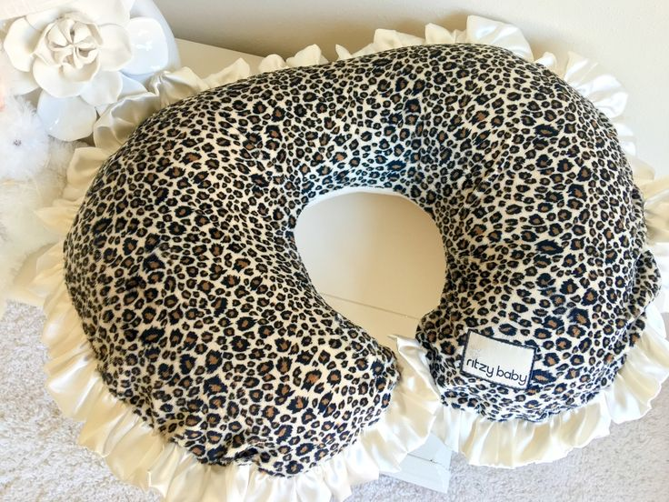 Nursing Pillow Cover - Leopard and Ivory
