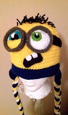 Evil Minion Beanie | Crochet BABY purple Despicable Me evil minion hat 0-12 months