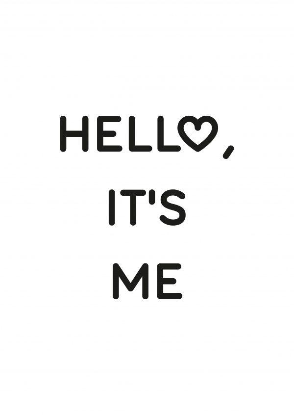 Hell ♥, it's me | Typografie | Echte Postkarten online versenden | MyPostcard.com