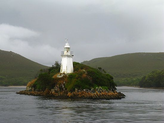 Bonnet Island Lighthouse at Hells Gate, Tasmania Australia