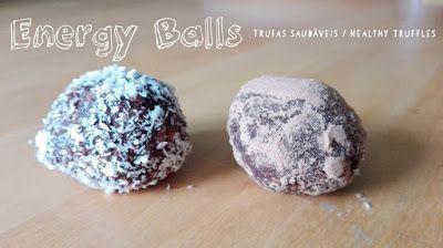 Healthy truffles paleo friendly/ Trufas saudáveis  - energy balls