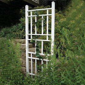 Dura-Trel 28-In W X 75-In H White Garden Trellis 11173