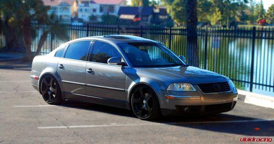 Volkswagen Passat Outfitted with Rotiform Wheels - http://www.vividracing.com/blog/wp-content/gallery/audi_and_vw/2005-tdi-passat-b5-rotiform-5.jpg