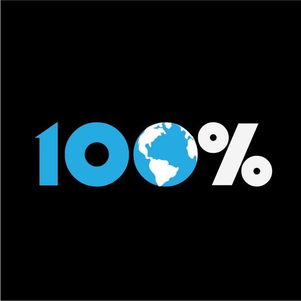 100% #Raleigh #NC #logo #earth #100 #percent #design
