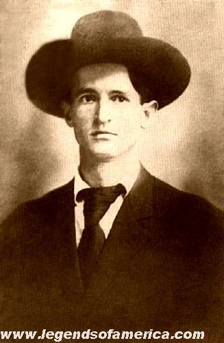 Bob Dalton, leader of the outlaw Dalton Gang, who robbed trains and banks throughout Oklahoma. In Coffeyville, Kansas, the townspeople fought back and Bob Dalton lay dead