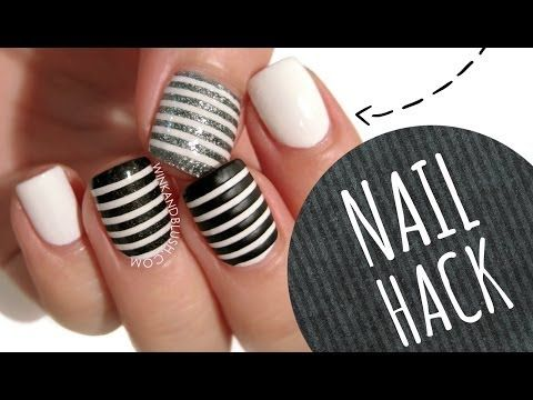 DIY Perfect Striped Nail Art Using Tape