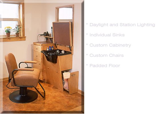 Small Space Hair Salon Ideas   For more information or to have a personal tour,