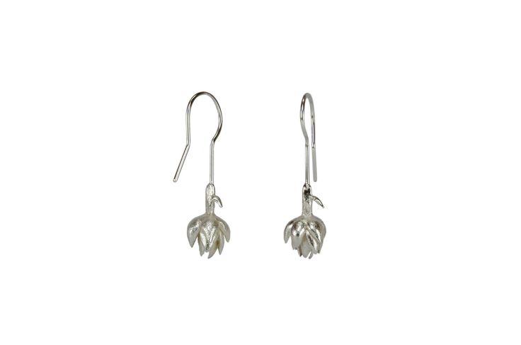 Artichoke earrings  Materials: sterling silver