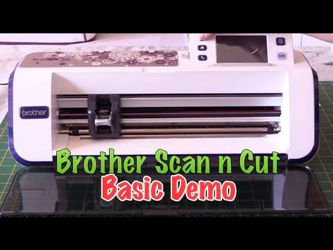 ScanNCut Scanning and Cutting Custom Shapes or Decoupage - YouTube
