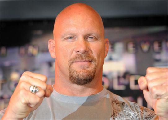 """""""Stone Cold"""" Steve Austin, WWE champion wrestler, actor. Dropped out of the University of North Texas a few credits shy of a physical education degree. Took a job as a freight dockworker. Then enrolled in the Dallas Sportatorium wrestling school."""