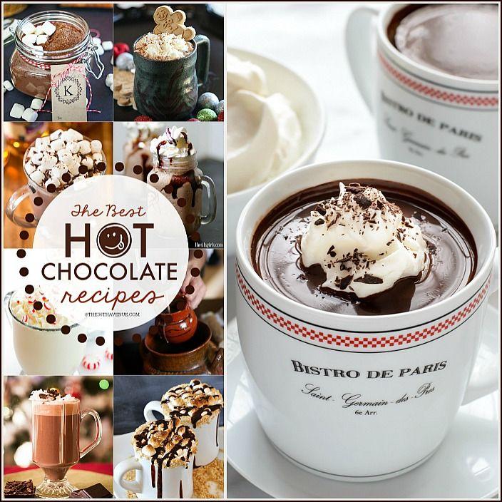 menu: White Hot Chocolate, Frozen Hot Chocolate, Mexican Hot Chocolate ...