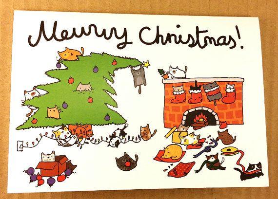 25 Unique Christmas Quotes Ideas On Pinterest: 25+ Unique Cat Christmas Cards Ideas On Pinterest