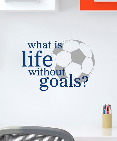 Take a look at this Belvedere Designs Sapphire Life Goals Wall Quote by Wallquotes.com by Belvedere Designs on #zulily today!