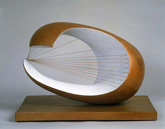 """Dame Barbara Hepworth - """"Wave"""" {1943-44} ~ wood, paint, string"""