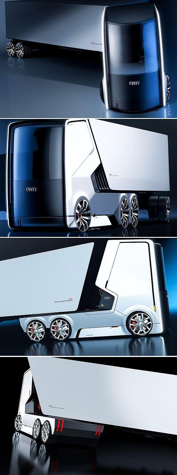 ✨ AUDI Autonomous Electric Truck Concept 1 | © Smirnov/Panchenko
