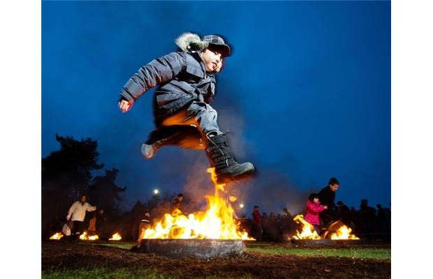 Photos and video: West Vancouver fire-jumpers celebrate Persian festival of Charshanbe Suri at Ambleside Park.