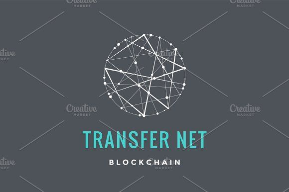 Logo for blockchain technology by FoxysGraphic on Creative Market