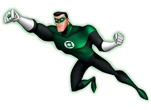 Hal Jordan empunha o poderoso anel para enfrentar os Lanternas Vermelhas