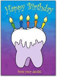 Afbeeldingsresultaat voor happy birthday dentist images