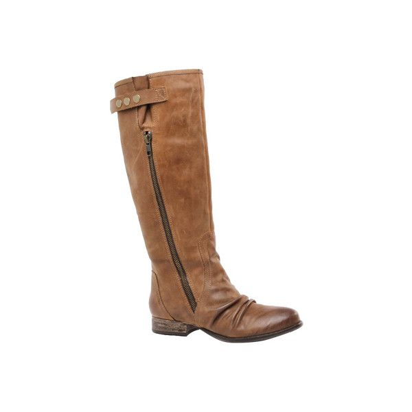 Women's Diba True Fin Ished - Tan Leather Knee High Boots ($138) ❤ liked on Polyvore featuring shoes, boots, tan, knee high leather boots, leather knee boots, tan leather boots, leather zip boots and tan knee high boots