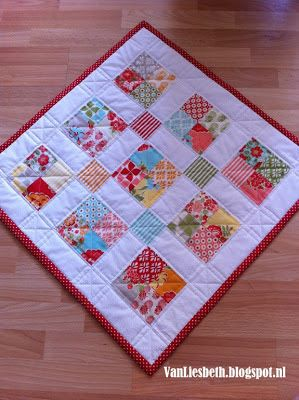 ~ Project using mini charm pack..no pattern but looks easy enough!