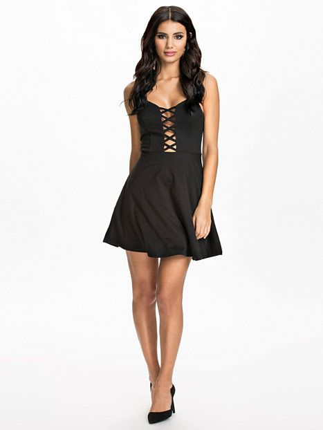 Criss Cross Detail Skater Dress - Club L - Black - Party Dresses - Clothing - Women - Nelly.com Uk