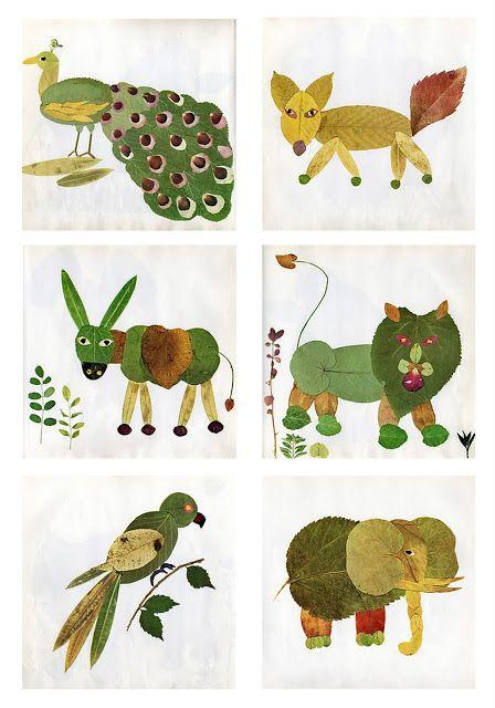 Laboratori per Bambini: CREATIVITA': ... con le foglie dell' AUTUNNO!!