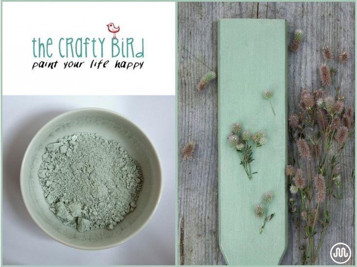 Mléčná barva LULLYMORE GREEN zeleno-šedý odstín od The Crafty Bird Milk Paint.