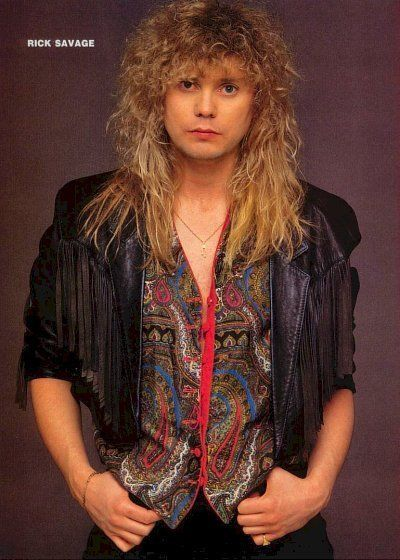 Always had a crush on Rick Savage from Def Leppard