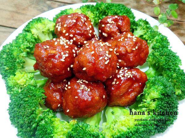 日式糖醋雞肉丸子