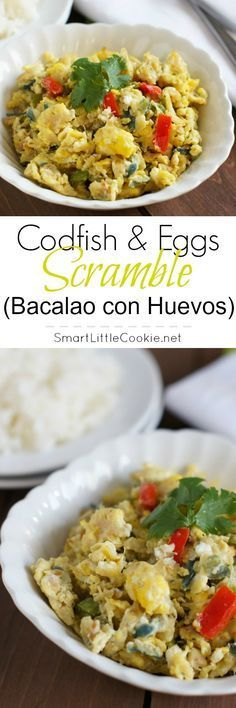 Codfish and Eggs Scramble (Bacalao con Huevos)