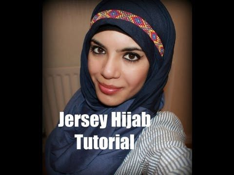 ▶ Jersey Hijab Tutorial- No Pins!-CASUAL & EASY STYLE - YouTube