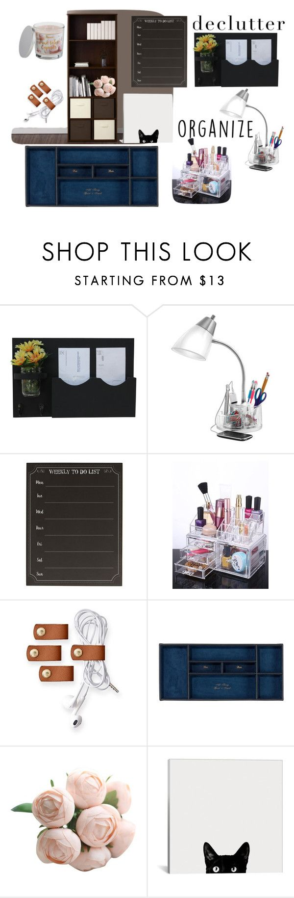 """""""Get it Together"""" by amypage-1 ❤ liked on Polyvore featuring interior, interiors, interior design, home, home decor, interior decorating, Catalina, Ameriwood, Cathy's Concepts and Mark & Graham"""