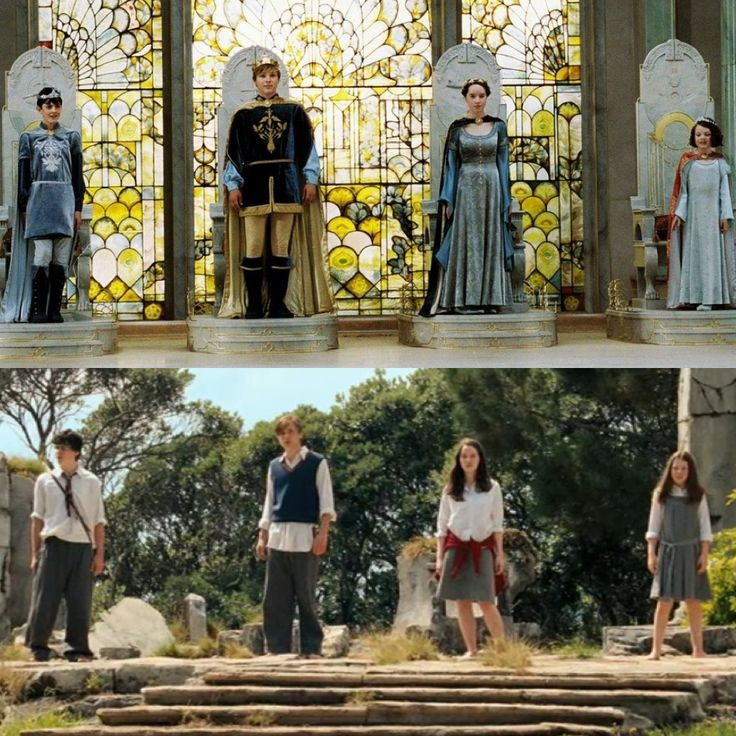 Before and after | Chronicles of Narnia | Lucy, Edmund, Peter, and Susan Pevensie