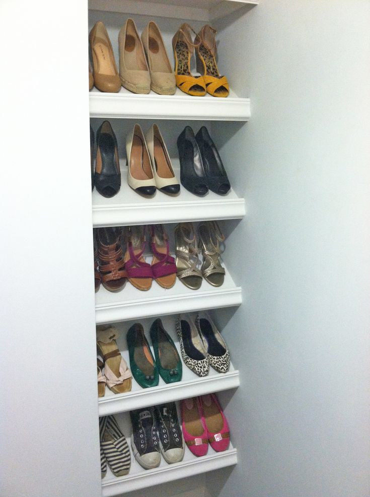 Designer shoe shelves on a budget ana white shoe