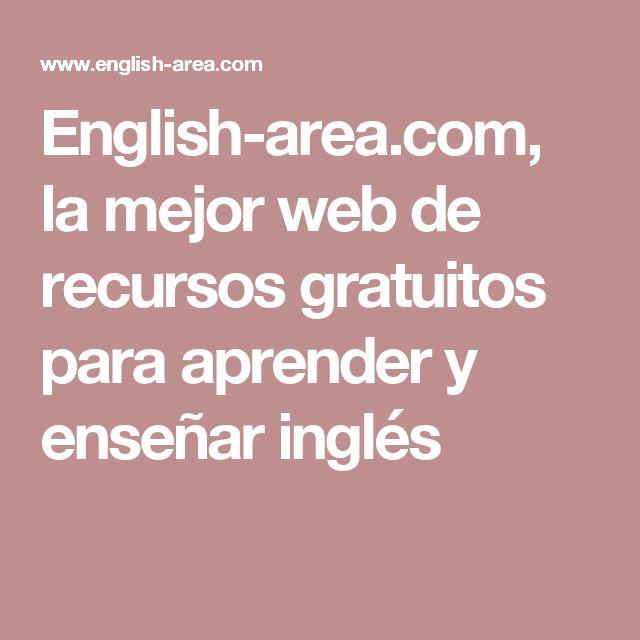 English-area.com, la mejor web de recursos gratuitos para aprender y enseñar inglés