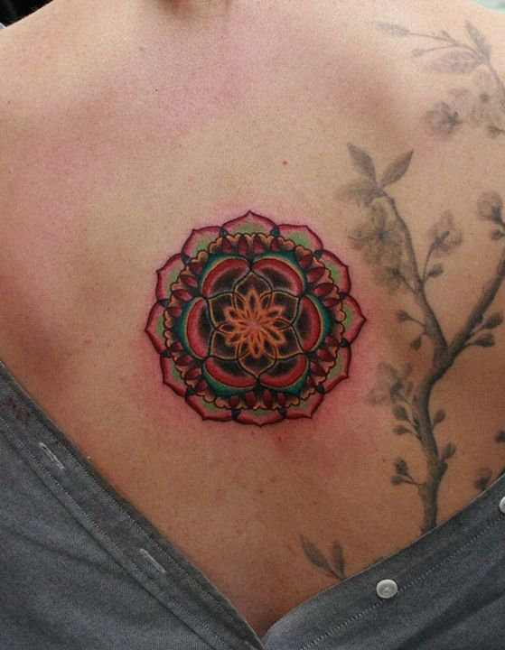 Heart chakra tattoo, I don't know why but I'm really drawn to this
