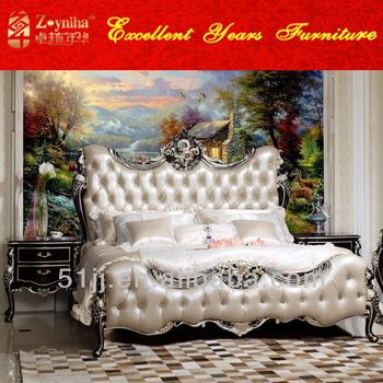 Neoclassic style royal home furniture wooden designs bedroom sets ...