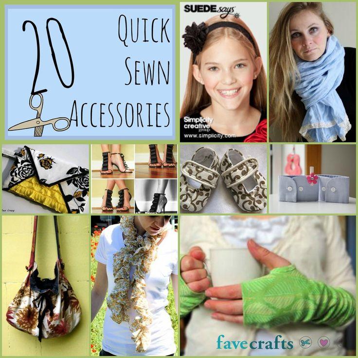 20 Quick Sewn Accessories | FaveCrafts.com