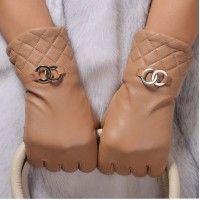 シャネル 女性 羊皮 手袋 金属環付き ファッション 外出便利 買い物に 保温 裏起毛 グローブ