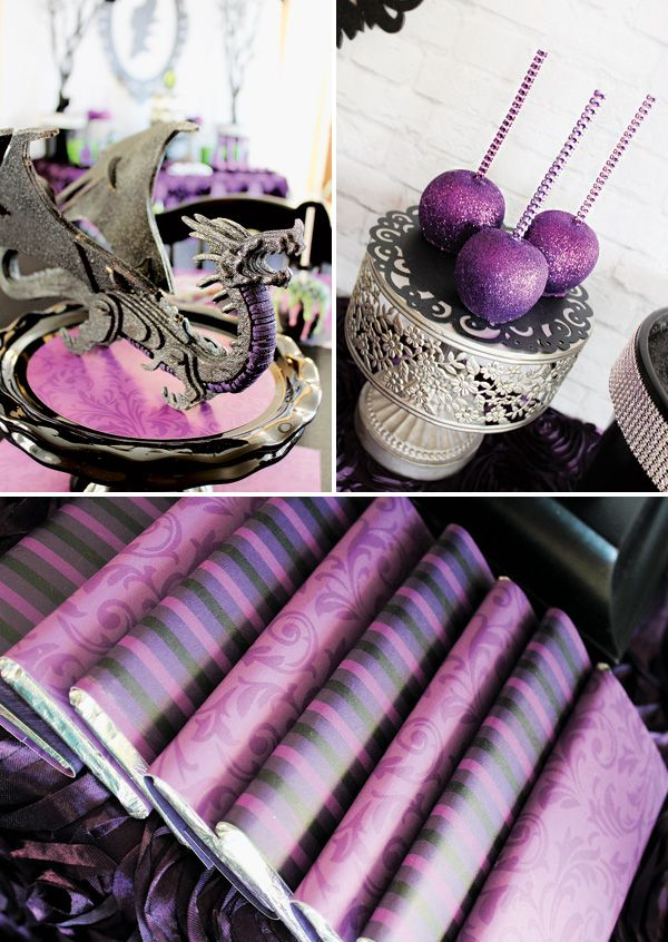 Disneys Maleficent Inspired Dessert Table