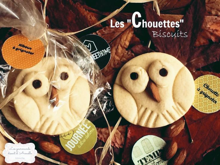 """On fête l'automne! Ces chouettes feront leur effet! Ces cookies me font littéralement voyager en enfance. Le biscuit est doux, on appelle ça un """"sugar cookie"""". Sa couleur est blanche, c'est normal. La pâte se forme rapidemment. Elle n'a pas besoin d'être..."""