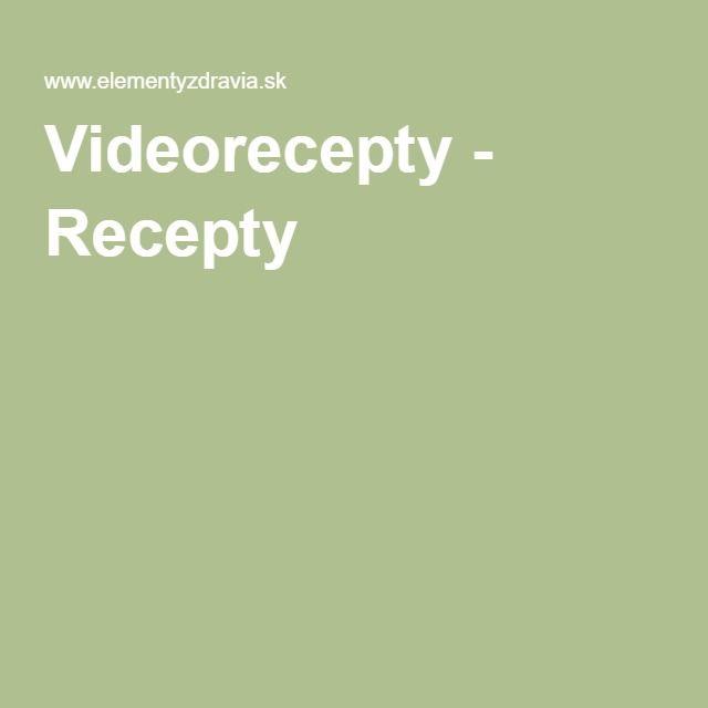 Videorecepty - Recepty