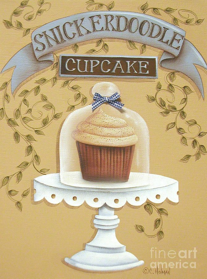 Snickerdoodle Cupcake Painting