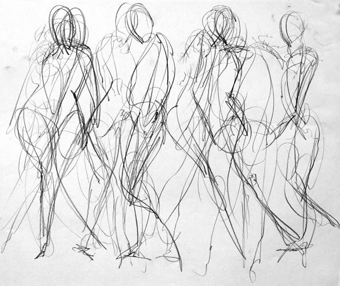 Gallery For > Alberto Giacometti Gesture Drawings